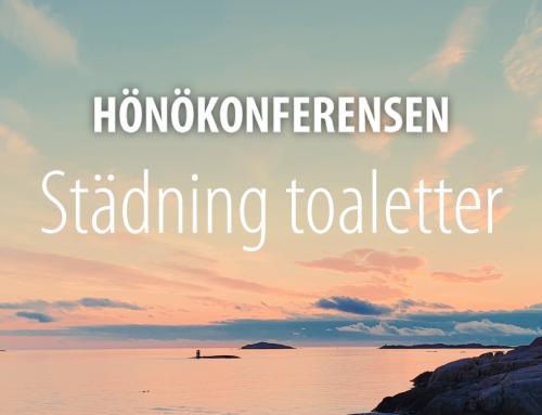Hönökonferensen Städning toaletter