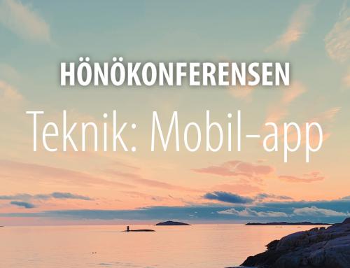Hönökonferensen Teknik: Mobil-app